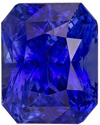 Natural Loose 3.16 carats Blue Sapphire Radiant Genuine Gemstone, 8.7 x 6.9 mm