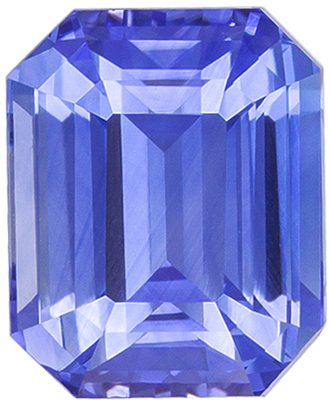 Lovely Sapphire Quality Gem, 8.4 x 6.8mm, Vivid Cornflower Blue, Emerald Cut, 3.2 carats