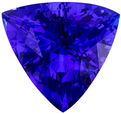 Wonderful Rare Tanzanite Natural Gem, 3.22 carats, Rich Blue Purple, Trillion Cut, 10 mm
