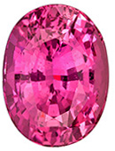 Must See 3.25 carats Pink Sapphire Oval Genuine Gemstone, 9.5 x 7.1 mm