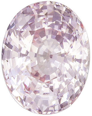 Lovely No Treatment GIA Certified Sapphire Natural Gem, 9.67 x 7.52 x 5.67 mm, Light Champagne Peach Oval Cut, 3.28 carats