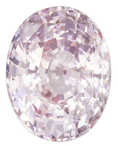 Light Baby Peach Sapphire Gemstone, Oval Cut, 3.28 carats, 9.67 x 7.52 x 5.67 mm , GIA Certified - A Hard to Find Gem