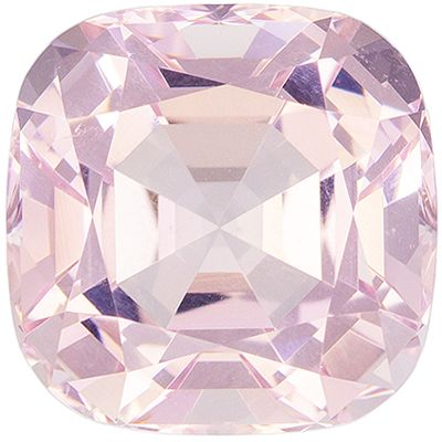 Stunning 3.28 carats Pink Morganite Cushion Genuine Gemstone, 8.8 mm