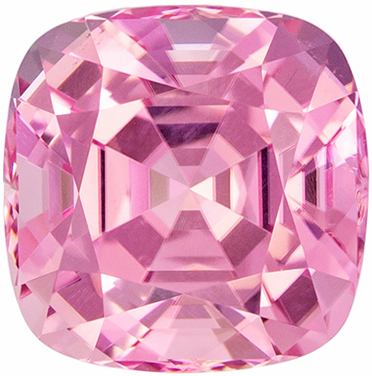 Glamourous 3.31 carats Pink Tourmaline Cushion Genuine Gemstone, 8.5 mm