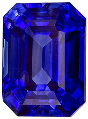 Loose Stunning 3.32 carats Blue Sapphire Emerald Genuine Gemstone, 8.8 x 6.4 mm
