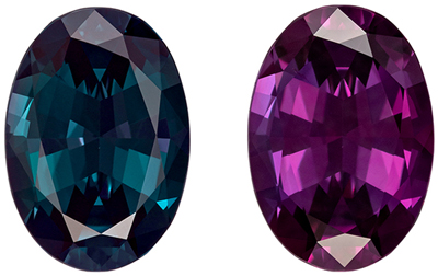 Super Gem in 3.32 carat GIA Alexandrite Gem, 11.58 x 8.14 x 4.91 mm, Teal Blue Green to Burguny Eggplant Color Change