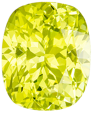 Popular 3.32 carats Yellow Chrysoberyl Cushion Genuine Gemstone, 9.4 x 7.7 mm