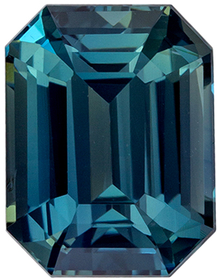 Gorgeous Untreated GIA Certified Sapphire Genuine Gem, 3.35 carats, Teal Blue Green, Emerald Cut, 9.37 x 7.15 x 5.13 mm