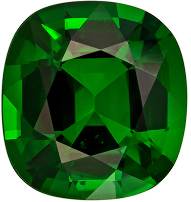 Very Attractive Tourmaline Natural Gem, 3.38 carats, Rich Grass Green, Cushion Cut, 10 x 9.4mm