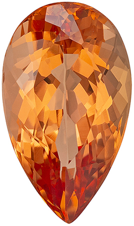 Great Price on 3.38 carat Imperial Topaz Gemstone in Pear Cut 12.3 x 7.3 mm