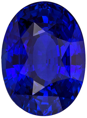 Low Price GIA Certified Blue Sapphire Loose Gem 3.39 carats, Oval Cut, Vivid Royal Blue, 9.83 x 7.2 x 5.44 mm