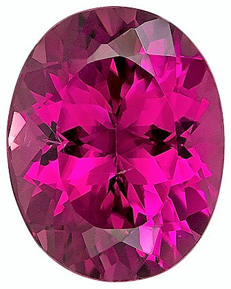 3.53 carats Pink Tourmaline Loose Gemstone in Oval Cut, Rose Pink, 10.9 x 8.7 mm