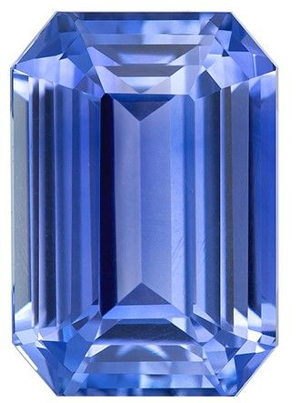 Selected Blue Sapphire Gemstone, 3.54 carats, Emerald Cut, 9.5 x 6.6 mm, Great Deal on This Gem