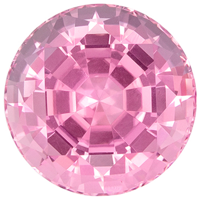 Fine Quality 3.54 carats Pink Tourmaline Round Genuine Gemstone, 9.3 mm