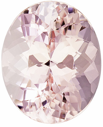 3.62 carats Loose Morganite Gemstone in Oval Cut, Soft Peach Pink, 11 x 9 mm Calibrated Gem
