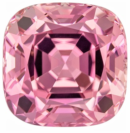 Genuine Pink Tourmaline Genuine Stone, 3.62 carats, Cushion Cut, 8.7 x 8.7  mm , Top Top Gem - Low Cost