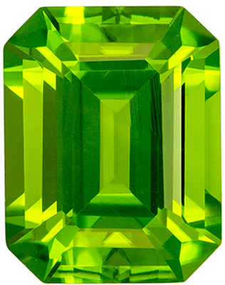 Fine Quality 3.67 carats Green Peridot Emerald Genuine Gemstone, 9.7 x 7.6 mm