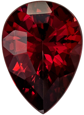 Very Lively Rhodolite Genuine Gem, 3.86 carats, Vivid Rich Red, Pear Cut, 11.8 x 8.4mm