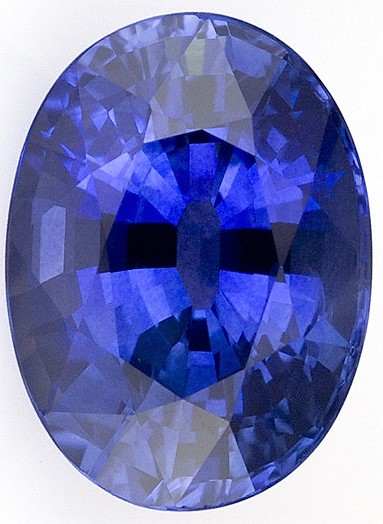Loose Blue Sapphire Gemstone 3.87 carats, Oval Cut, 10.2 x 7.5  mm