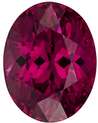 Low Price Red Rhodolite Garnet Loose Stone, 3.89 carats, Oval Cut, 10.2 x 7.9  mm , Super Fine Stone