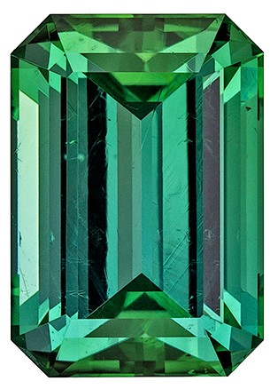 Stunning Blue Green Tourmaline Faceted Gem, 3.91 carats, Emerald Cut, 10.5 x 7.3  mm , Amazing Color Low Price