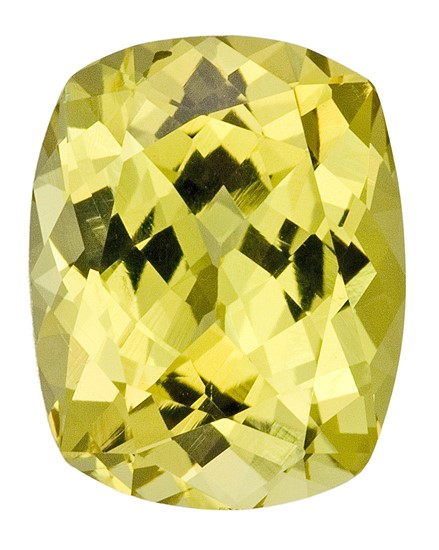 Real Yellow Chrysoberyl Gemstone, Cushion Cut, 3.91 carats, 10.6 x 8.4 mm , AfricaGems Certified - Unusually Fine