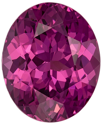 Excellent Garnet Quality Gem, 3.93 carats, Vivid Rose Raspberry, Oval Cut, 10.5 x 8.3mm
