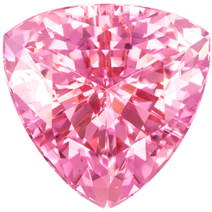Genuine Pink Tourmaline 3.95 carats, Trillion shape gemstone, 10  mm