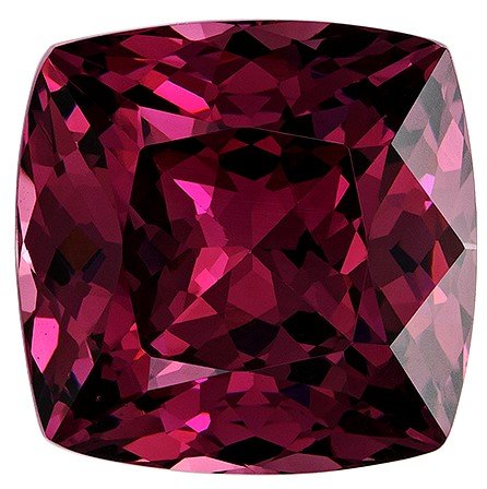 Must See Red Rhodolite Garnet Genuine Gemstone, 3.97 carats, Cushion Cut, 8.8 x 8.7  mm , Must See This Gemstone