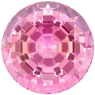 Stunning 3.98 carats Pink Tourmaline Round Genuine Gemstone, 9.5 mm