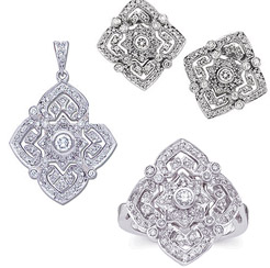 3 PIECE  DIAMOND MATCHING SETS