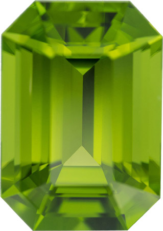 Peridot in Spectacular Size Quality 38.50 carat Pakistan Gem in Rare Octagon German Cut, 24 x 17 mm