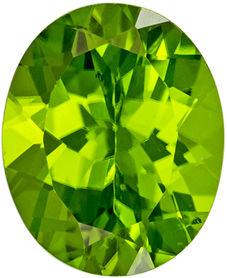 Glamourous 4.03 carats Green Peridot Oval Genuine Gemstone, 11 x 9 mm