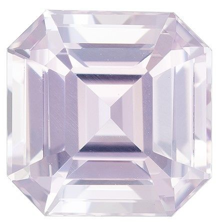Heirloom Pink Sapphire Gemstone, 4.07 carats, Emerald Cut, 8.6 x 8.6 mm, A Great Find On This Gem
