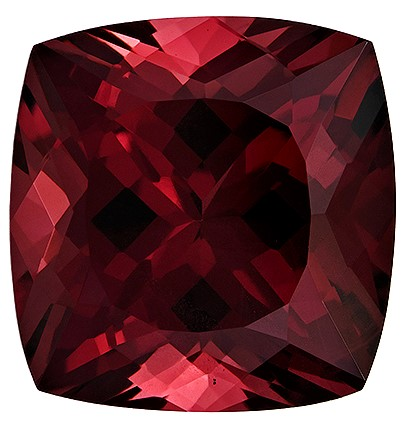 Must See Red Rhodolite Garnet Loose Gem, 4.11 carats, Cushion Cut, 9.2 x 8.9  mm , Great Low Price