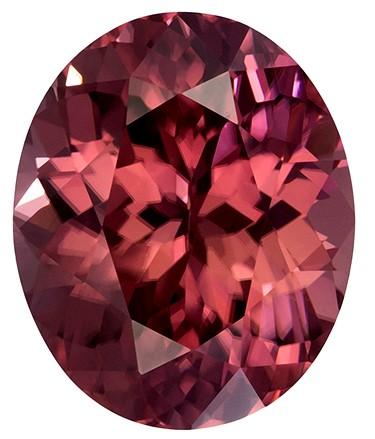 4.22 carats Brown Zircon Loose Gemstone in Oval Cut, Coppery Rose Brown, 10 x 8.3 mm