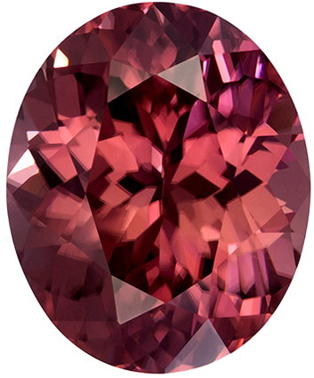 4.22 carats Brown Zircon Loose Gemstone Oval Cut, Coppery Rose Brown, 10 x 8.3 mm
