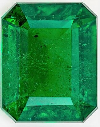 Faceted Emerald Gemstone, 4.22 carats, Emerald Cut, 10.63 x 8.59 x 5.96 mm, Low Low Price with GIA Cert