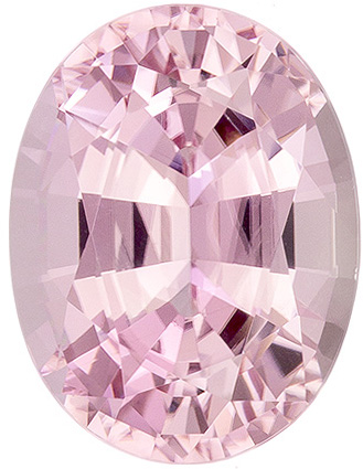 4.26 carats Pink Tourmaline Loose Gemstone in Oval Cut, Light Baby Pink, 11.7 x 8.9 mm