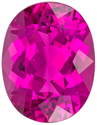 Hard to Find Pink Tourmaline Gemstone Oval Cut, Vivid Rich Pink, 11.9 x 9.1 mm, 4.3 carats