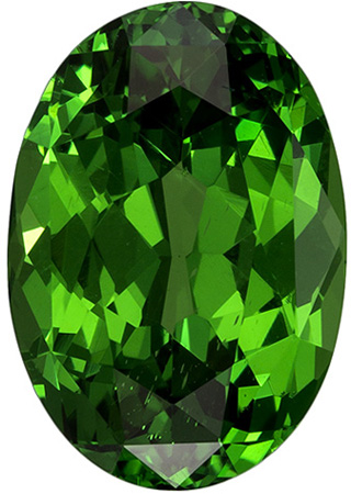 4.32 carats Tsavorite Loose Gemstone Oval Cut, Rich Grass Green, 11.8 x 8.2 mm