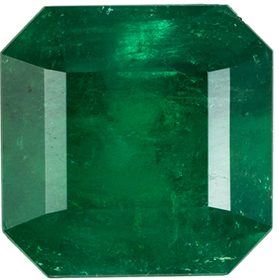Beautiful 4.36 carats Green Emerald Emerald Genuine Gemstone, 9.7 mm