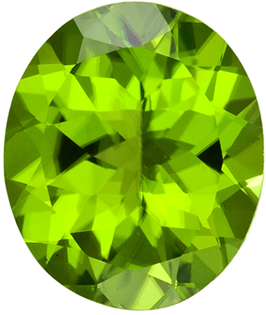 Stunning 4.41 carat Green Peridot Matched Gemstones in Oval Cut 12 x 10 mm