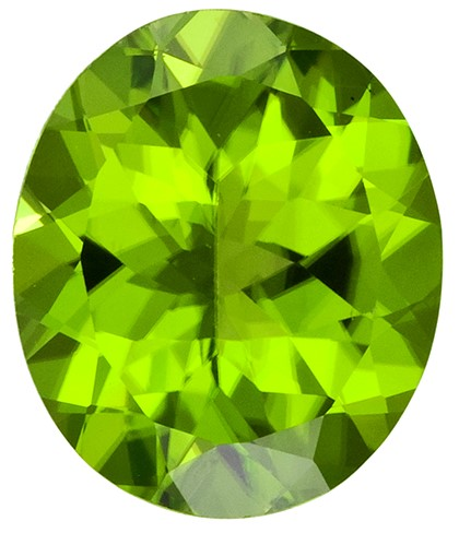 Genuine Vibrant Peridot Gemstones, Oval Cut, 4.41 carats, 12 x 10 mm Matching Pair, AfricaGems Certified - Unusually Fine