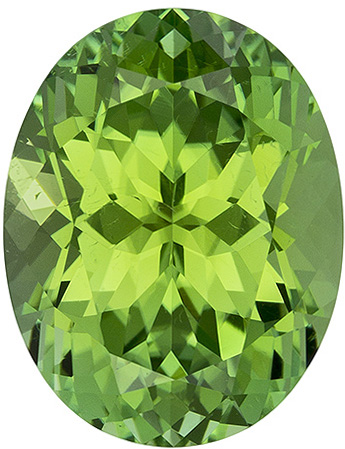 4.42 carats Green Tourmaline Loose Gemstone in Oval Cut, Open Mint Green, 11.9 x 9.2 mm