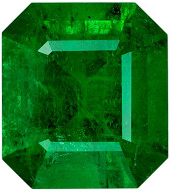 Natural Loose 4.53 carats Green Emerald Emerald Genuine Gemstone, 10.87 x 9.67 x 6.89 mm