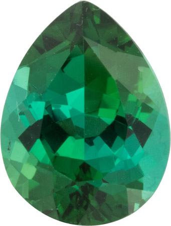4.56 carat Super Fine Blue Green Pear Shaped Brazilian Tourmaline Loose Gem in German Cut, 12.3 x 9.2 mm