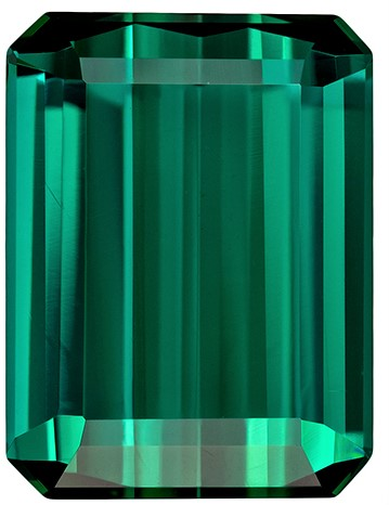 Natural Stunning Blue Green Tourmaline Gem, 4.57 carats, Emerald Cut, 11 x 8.3  mm , Super Fine Stone