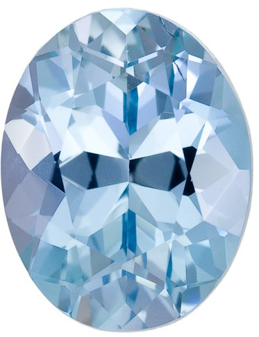 4.58 carats Aquamarine Loose Gemstone in Oval Cut, Medium Dark Color, 12.4 x 9.7 mm