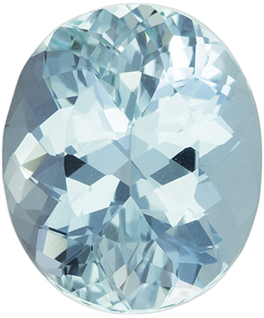 4.61 carats Aquamarine Loose Gemstone Oval Cut, Medium Blue, 12.4 x 10.3 mm